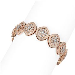 12.27 ctw Diamond Bracelet 18K Rose Gold