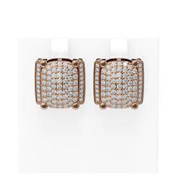 3.26 ctw Diamond Earrings 18K Rose Gold