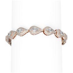 16.3 ctw Oval Diamond Bracelet 18K Rose Gold