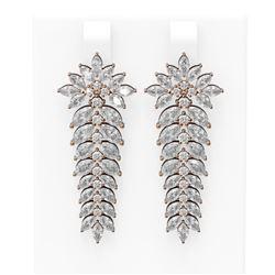 10.2 ctw Diamond Earrings 18K Rose Gold