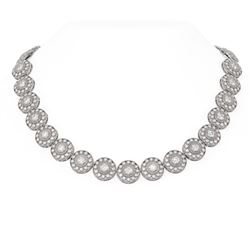 18 ctw Diamond Necklace 18K White Gold