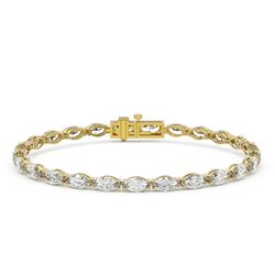 12 ctw Marquise Diamond Eternity Bracelet 18K Yellow Gold