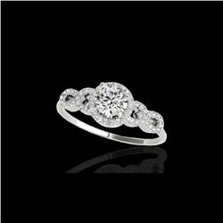 1.33 ctw Certified Diamond Solitaire Ring 10K White Gold