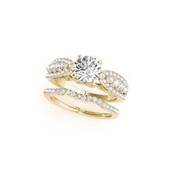 2.26 ctw Certified VS/SI Diamond 2pc Wedding Set 14K Yellow Gold