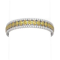 43.75 ctw Citrine & Diamond Bracelet 18K White Gold