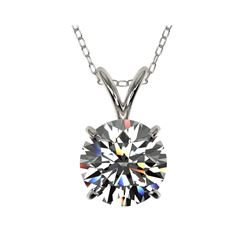 1.55 ctw Certified Quality Diamond Necklace 10K White Gold