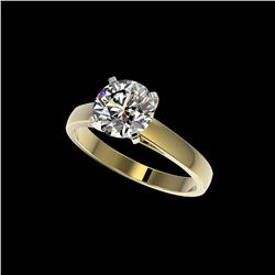 2 ctw Certified Quality Diamond Engagement Ring 10K Yellow Gold