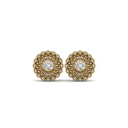 1.5 ctw Certified VS/SI Diamond Art Deco Stud Earrings 18K Yellow Gold