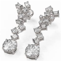 4 ctw Diamond Designer Earrings 18K White Gold