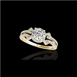 1.36 ctw Certified Diamond Solitaire Ring 10K Yellow Gold