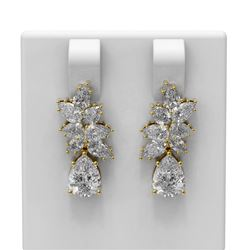 4.48 ctw Diamond Earrings 18K Yellow Gold