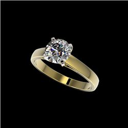 1.50 ctw Certified Quality Diamond Engagement Ring 10K Yellow Gold
