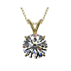 1.50 ctw Certified Quality Diamond Necklace 10K Yellow Gold