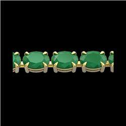 29 ctw Emerald Eternity Designer Bracelet 14K Yellow Gold