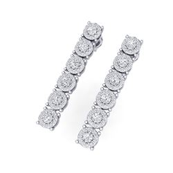 2 ctw Certified SI/I Diamond Halo Earrings 18K White Gold