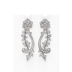 4.62 ctw Diamond Earrings 18K White Gold