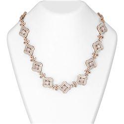 49.65 ctw Morganite & Diamond Necklace 18K Rose Gold