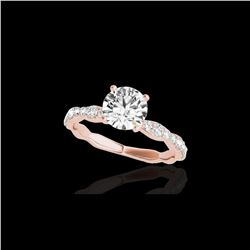 1.4 ctw Certified Diamond Solitaire Ring 10K Rose Gold