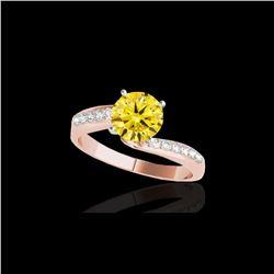 1.15 ctw Certified SI Intense Yellow Diamond Bypass Ring 10K Rose Gold