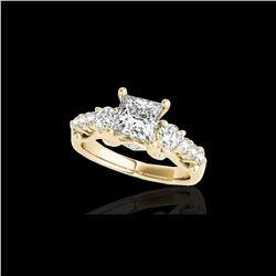 1.75 ctw VS/SI Certified Princess Diamond 3 Stone Ring 10K Yellow Gold