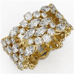 7.8 ctw Marquise Cut Diamond Designer Ring 18K Yellow Gold