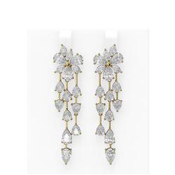 12.21 ctw Diamond Earrings 18K Yellow Gold
