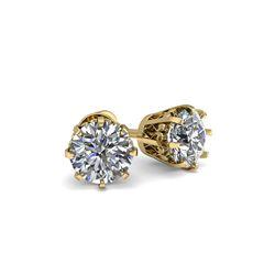 1.0 ctw VS/SI Diamond Stud Earrings 18K Yellow Gold