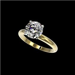 2.50 ctw Certified Quality Diamond Engagement Ring 10K Yellow Gold