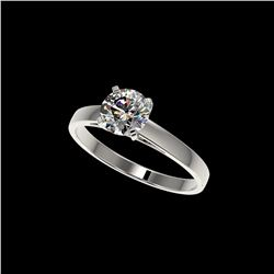 1 ctw Certified Quality Diamond Engagement Ring 10K White Gold