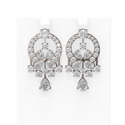 14 ctw Diamond Earrings 18K White Gold