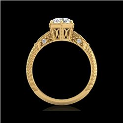 1.17 ctw VS/SI Diamond Solitaire Art Deco Ring 18K Yellow Gold