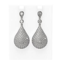 11.35 ctw Diamond Earrings 18K White Gold
