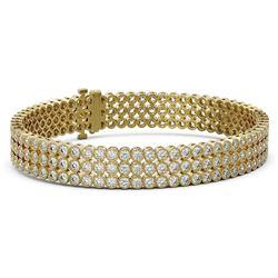 14 ctw Diamond Designer Bracelet 18K Yellow Gold