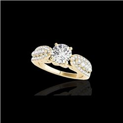 2 ctw Certified Diamond Solitaire Ring 10K Yellow Gold