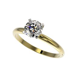 1.03 ctw Certified Quality Diamond Engagement Ring 10K Yellow Gold