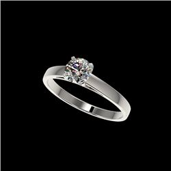 .77 ctw Certified Quality Diamond Engagement Ring 10K White Gold