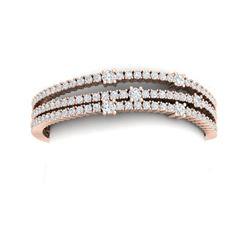 15 ctw Certified VS/SI Diamond Bracelet 18K Rose Gold