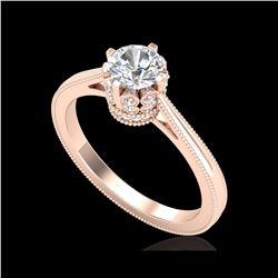 0.81 ctw VS/SI Diamond Solitaire Art Deco Ring 18K Rose Gold