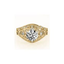 1.36 ctw Certified VS/SI Diamond Antique Ring 18K Yellow Gold