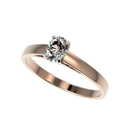 .50 ctw Certified VS/SI Quality Oval Diamond Engagement Ring 10K Rose Gold