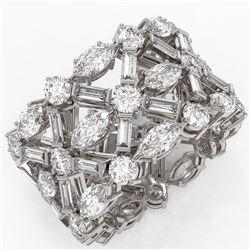 7.77 ctw Marquise Cut Diamond Designer Ring 18K White Gold
