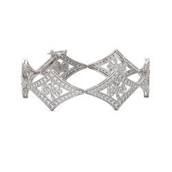 18 ctw Pear Cut Diamond Designer Bracelet 18K White Gold