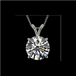 2.53 ctw Certified Quality Diamond Necklace 10K White Gold