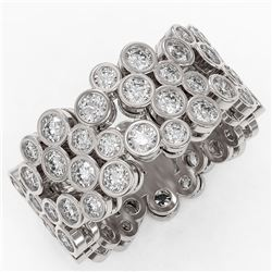4 ctw Diamond Designer Ring 18K White Gold