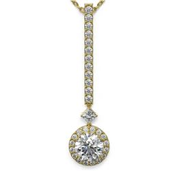 1.3 ctw Diamond Designer Necklace 18K Yellow Gold