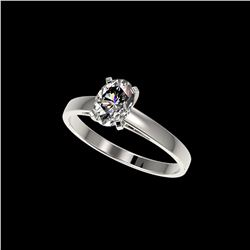 1 ctw Certified VS/SI Quality Oval Diamond Solitaire Ring 10K White Gold