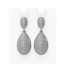 4.55 ctw Diamond Earrings 18K White Gold
