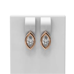4 ctw Marquise Diamond Earrings 18K Rose Gold