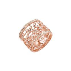 1.30 ctw Certified VS/SI Diamond Ring 14K Rose Gold