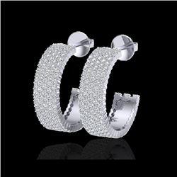 4.50 ctw Micro Pave VS/SI Diamond Earrings 14K White Gold